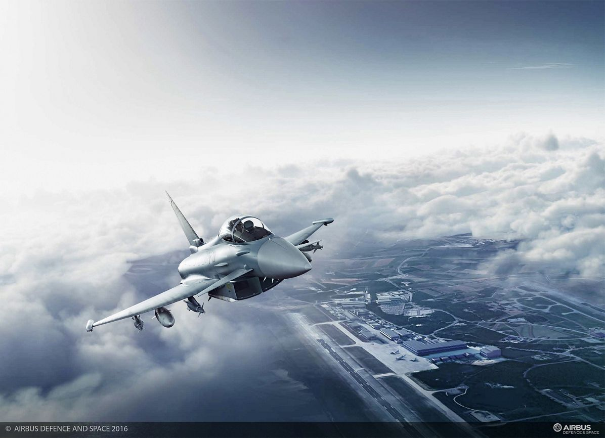Eurofighter Flying Over Manching, Germany