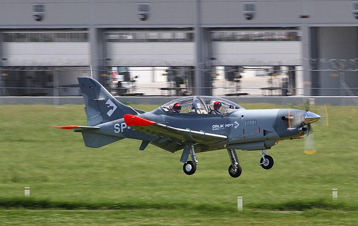 PZL 130 Orlik MPT (Multi Purpose Trainer) aircraft in the air