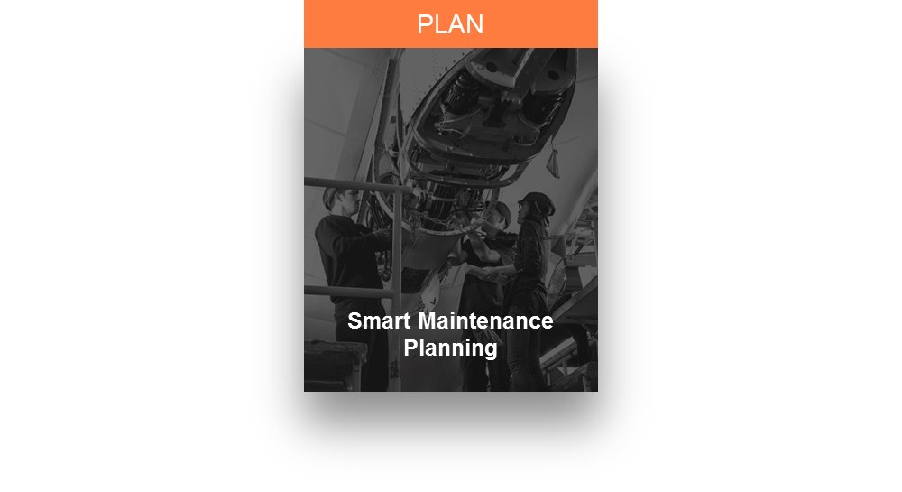 A representative graphic for Airbus' Smart Maintenance Planning services for military aircraft customers.