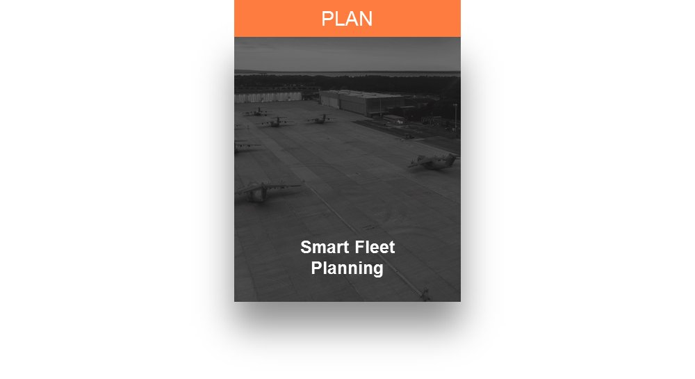 A representative graphic used to illustrate Airbus' Smart Fleet Planning services for military aircraft customers.