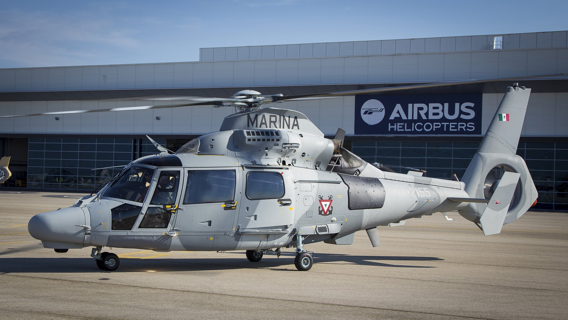 Airbus Helicopters delivers first AS565 MBe Panther to the Mexican Navy