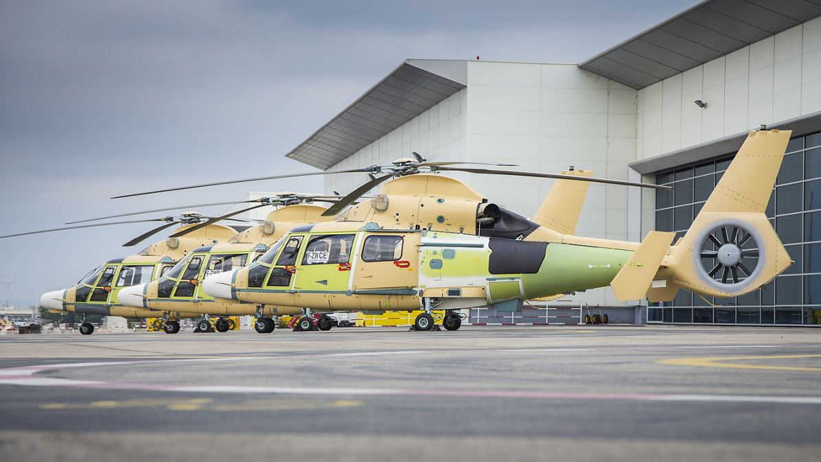 Airbus Helicopters delivers first three AS565 MBe Panther to Indonesia