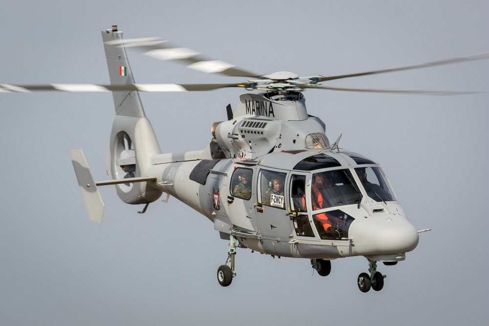 Delivery of the first AS565 MBe Panther to the Mexican Navy.