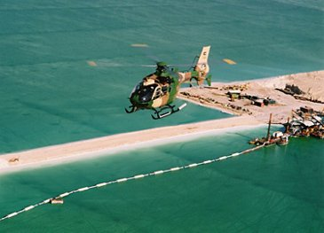 Royal Jordanian Air Force's H135M over the Dead Sea