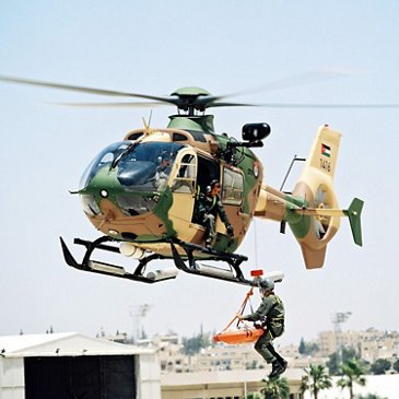 MEDEVAC/CASEVAC operation executed by a Royal Jordanian Air Force squadron