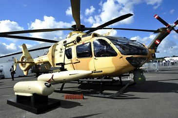 H135M on static display for the ILA 2012 edition