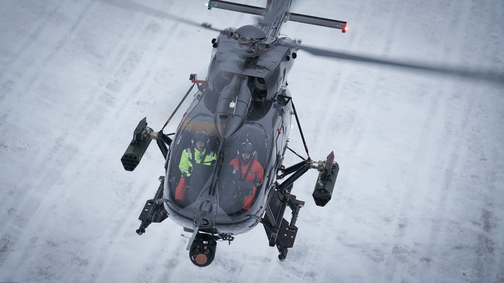 In the first weeks of December 2017, Airbus Helicopters demonstrated the ability to fire laser guided rockets (FZ275 LGR from Thales) with its new H145M platform at the Älvdalen test range of the Swedish Defence Materiel Administration Flight test Centre. In a rough and challenging environment the system performed flawlessly.
