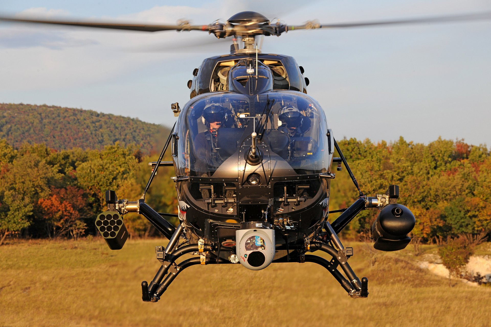 Front view of a German Air Force's H145M with on-board HForce weapon system