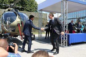 Delivery of 1st H145M to Serbian Ministry of Defence