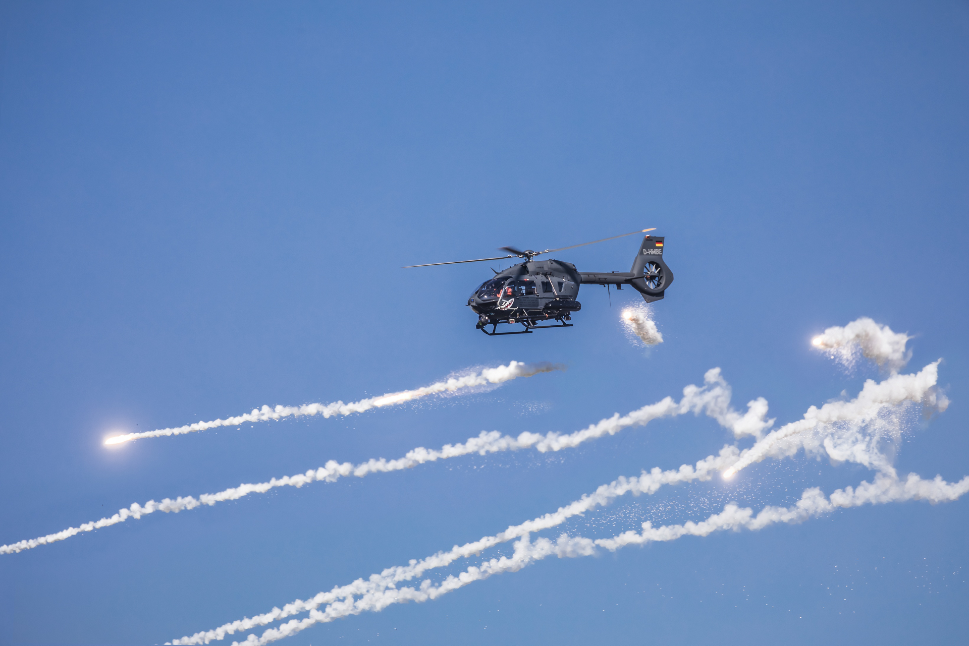 Customer delegations from around the globe converged at Hungary's Bakony Combat Training Center recently for a successful multi-day demonstration of the H145M which was outfitted with the company's new HForce weapons system.