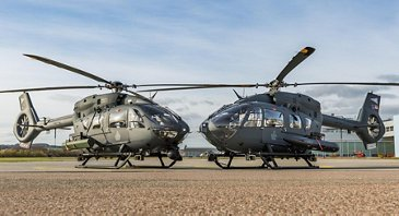 Hungarian Air Force H145M helicopters with the Airbus-developed HForce weapons management system