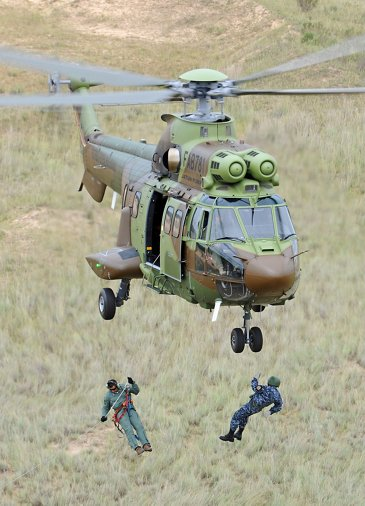 H225M in flight during a casualty evacuation duty