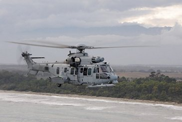 The 11-metric-tonne H225M Caracal in flight