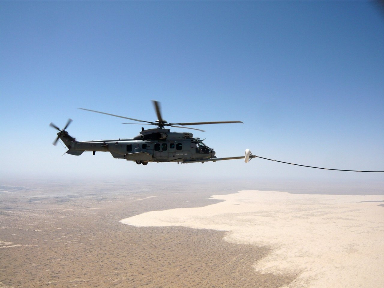 First H225M Caracal In-Flight Refueling During Combat by the French Armed Forces