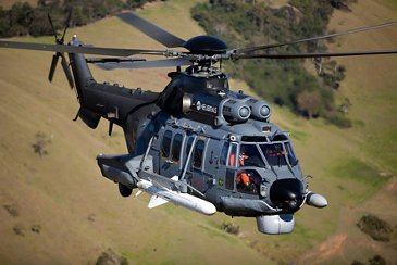 Helibras-built Brazilian Air Force's H225M in flight