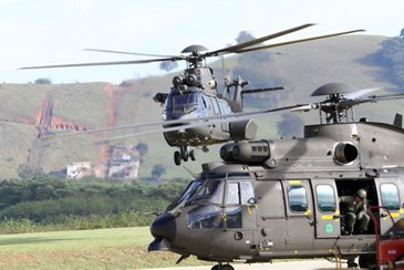Two H225M helicopters