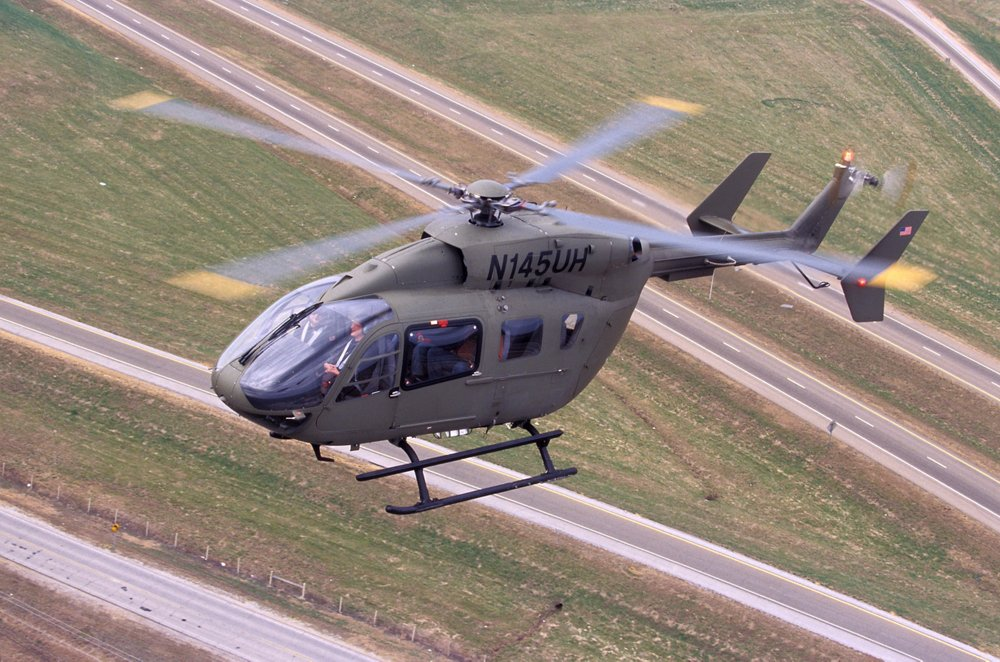 The UH-72A Lakota light utility helicopters acquired by the U.S. Army are based on Airbus' H145 multi-mission rotocraft.