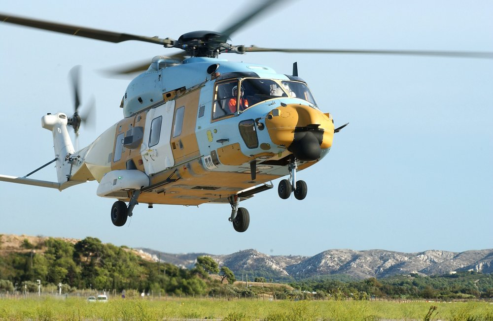Maiden flight of first Patria NH90