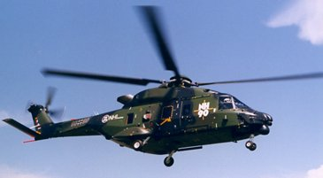NH90 fourth prototype in flight - Side view