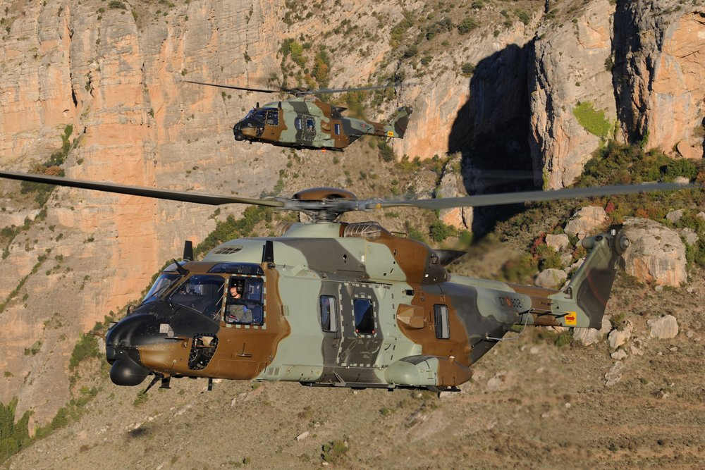 Delivery of the first two NH90 to the Spanish Army.