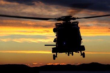 NH90 sunset flight