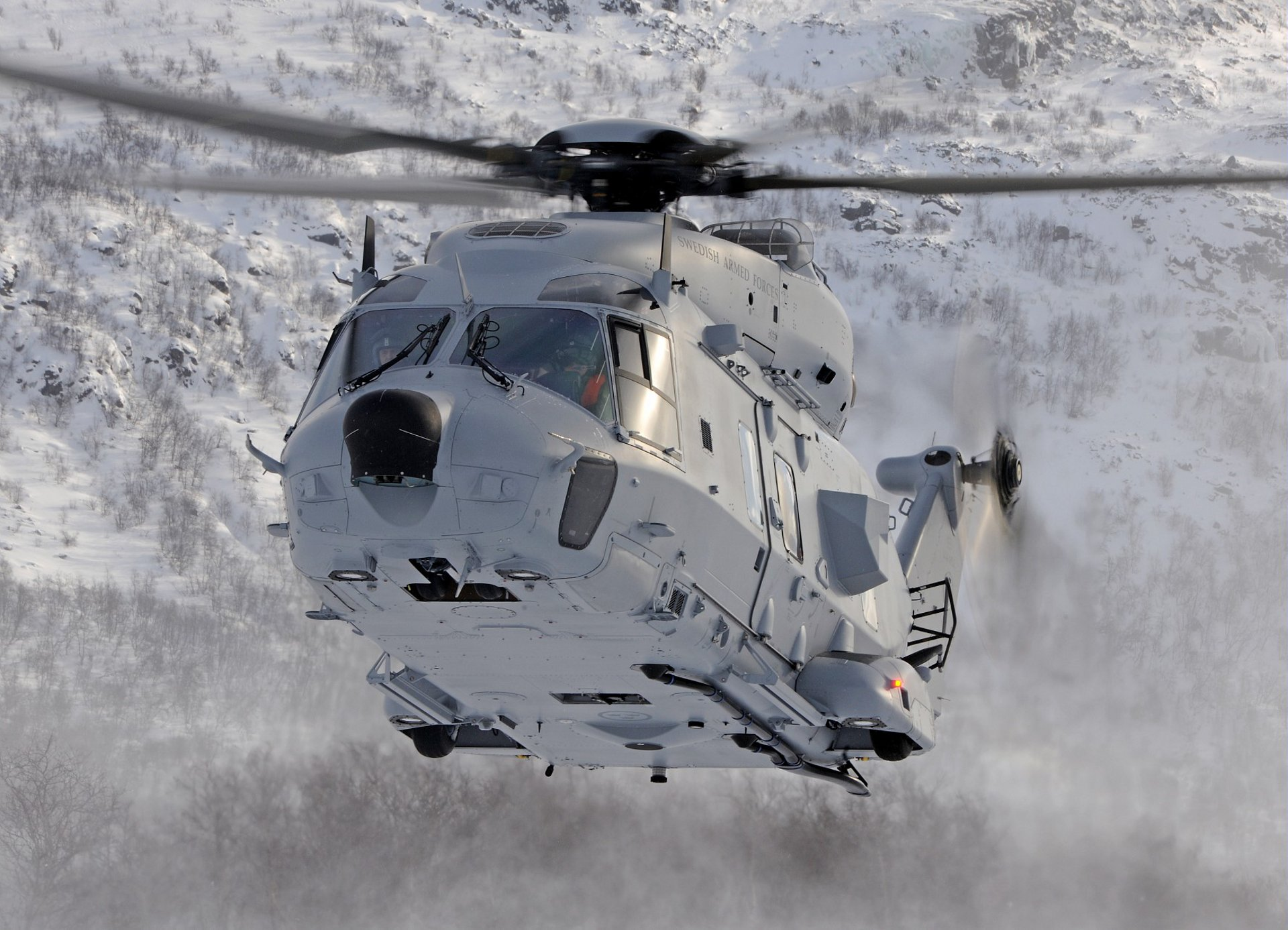 Swedish Armed Forces' NH90 in flight