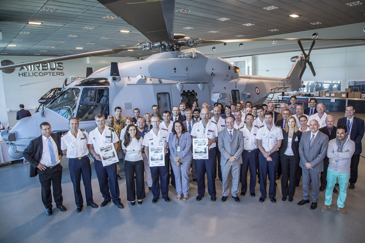 Delivery of  NH90 NFRN07 at Airbus Helicopters