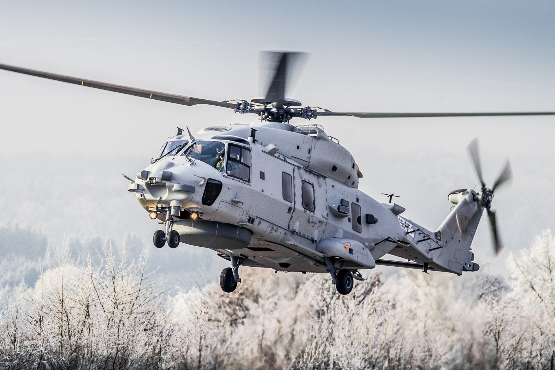 The NH90 Sea Lion naval multi-role helicopter took off on its on-schedule maiden flight at Airbus Helicopters in Donauwörth