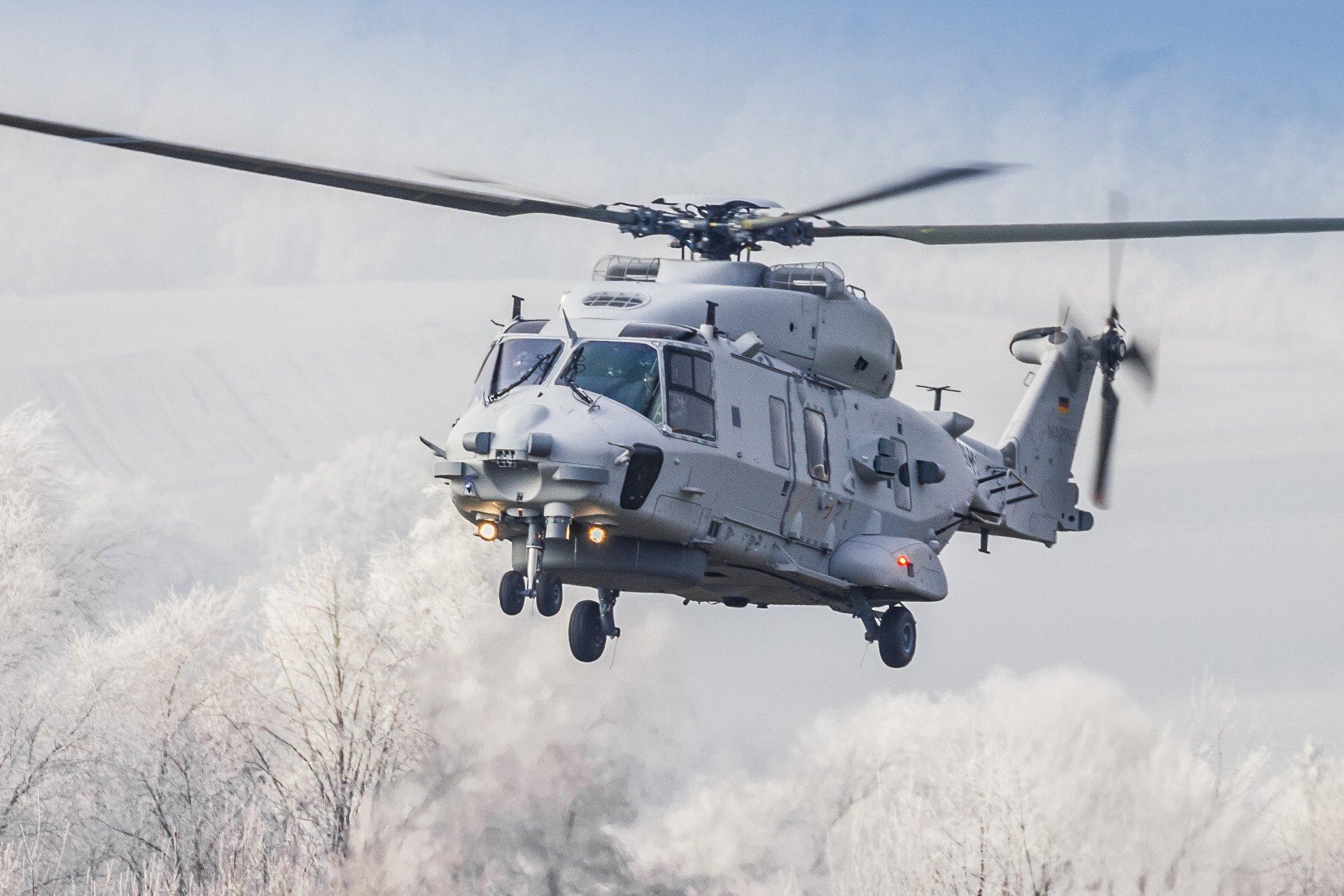 German Navy NH90 Sea Lion performs maiden flight