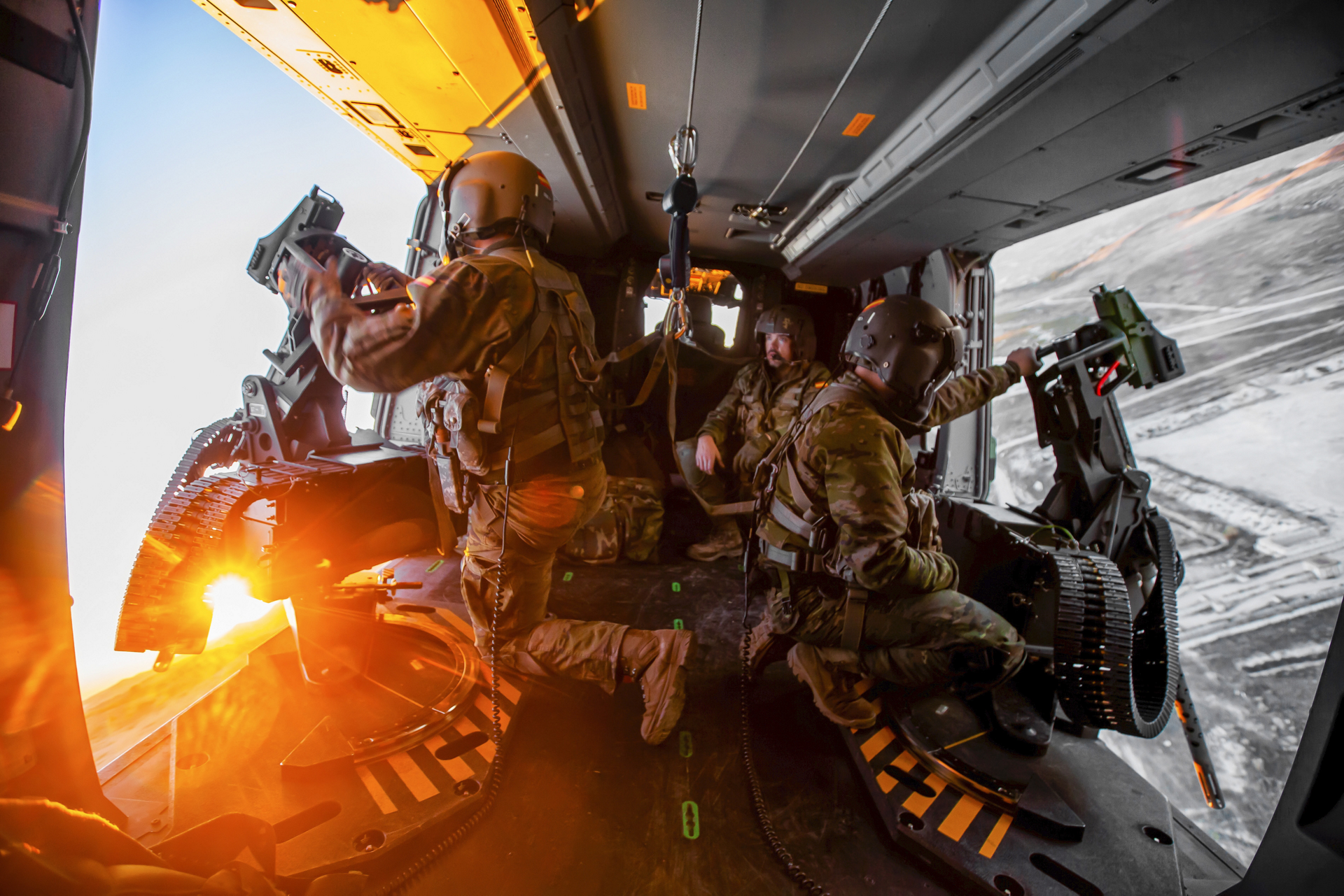 Inside view of a NH90 operated by Spain.