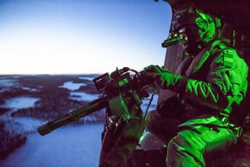 Finnish Defence Forces NH90 live fire exercise