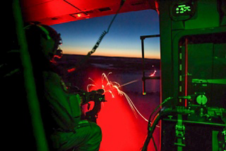 The Finnish Defence Forces practice nighttime live firing missions as part of SOF training.