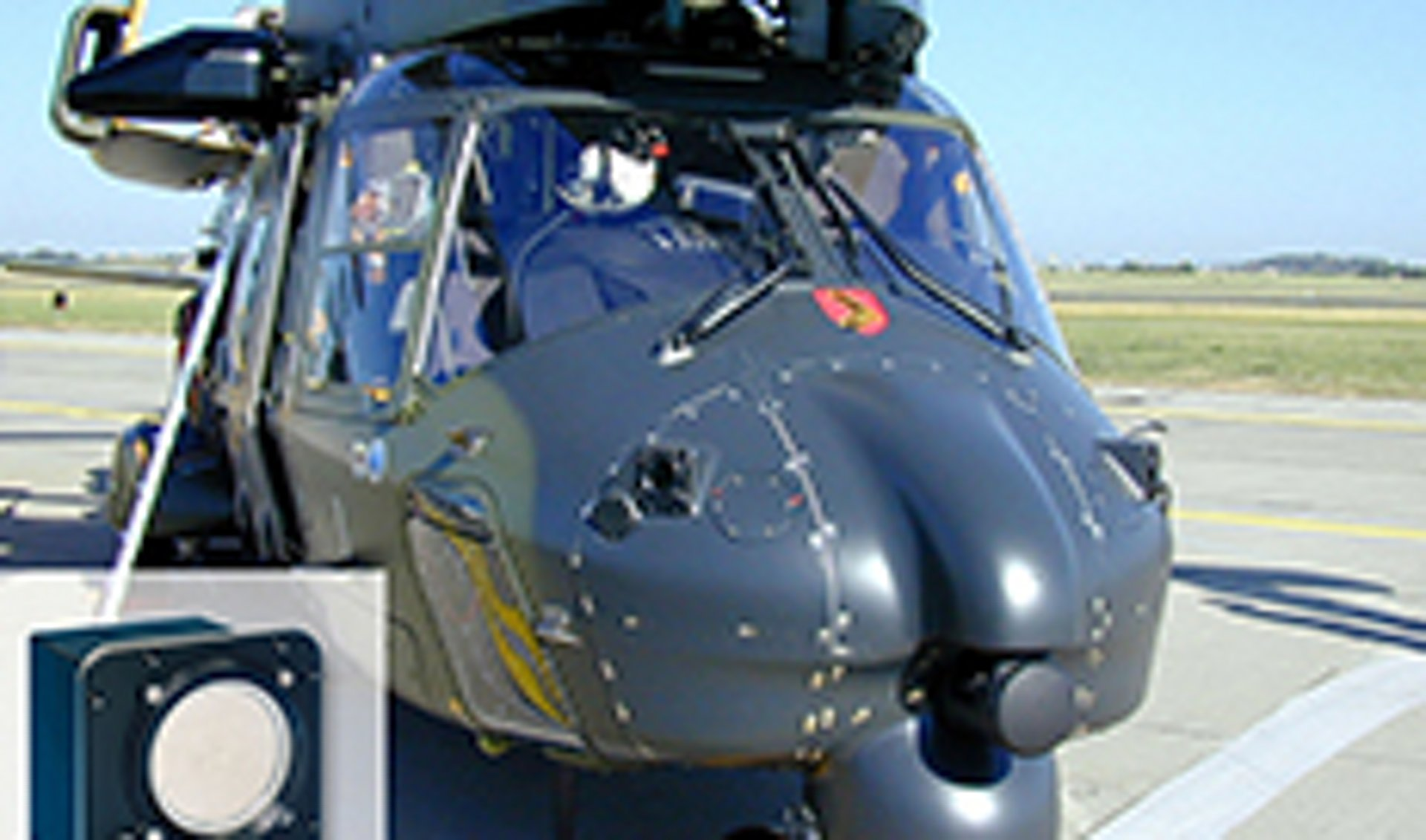 MILDS forward sensor heads, seen here in the NH90 helicopter configuration