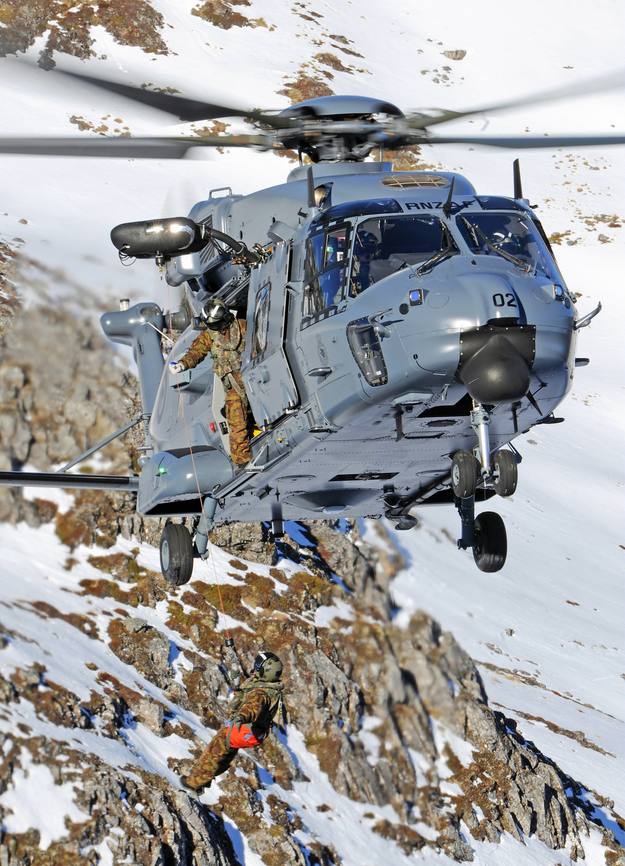 An NH90 helicopter operated by Royal New Zealand Air Force.