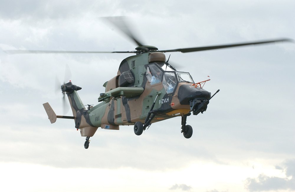 The no. 1 Tiger production helicopter, an armed reconnaissance version for Australia, flew for the first time in 2004.
