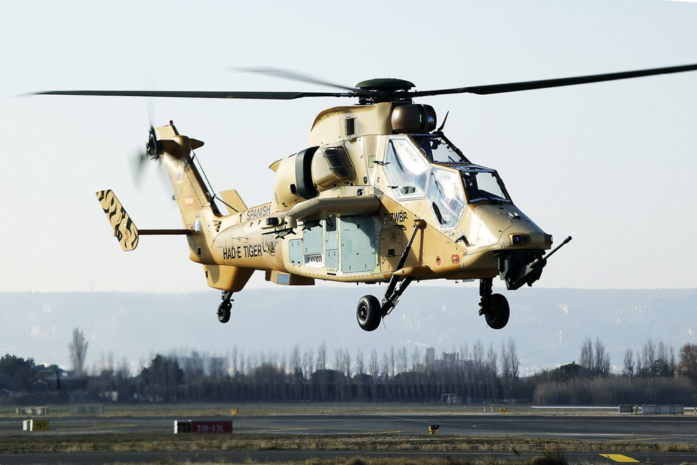 The first flight of the Airbus-produced Tiger HAD helicopter version was performed at Marignane, France in 2007.