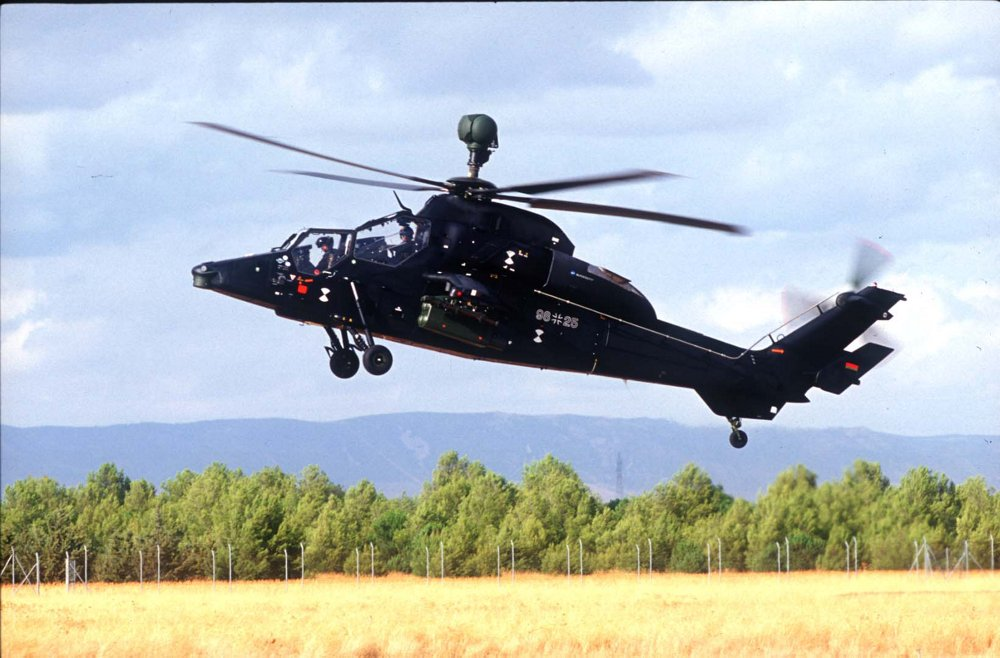 The fifth Tiger attack helicopter prototype's maiden flight was performed in 1996.