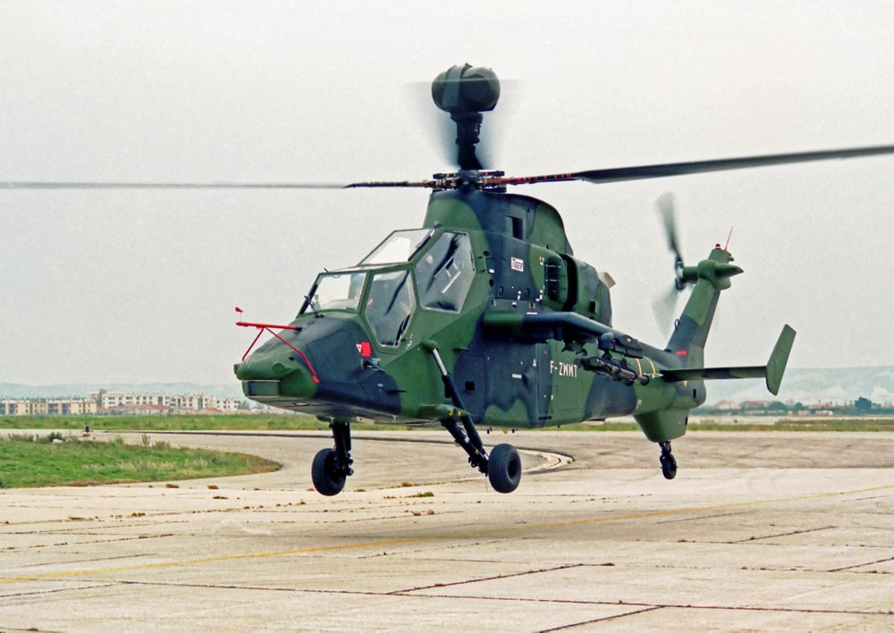The maiden flight of the third Tiger attack helicopter prototype took place in 1993.