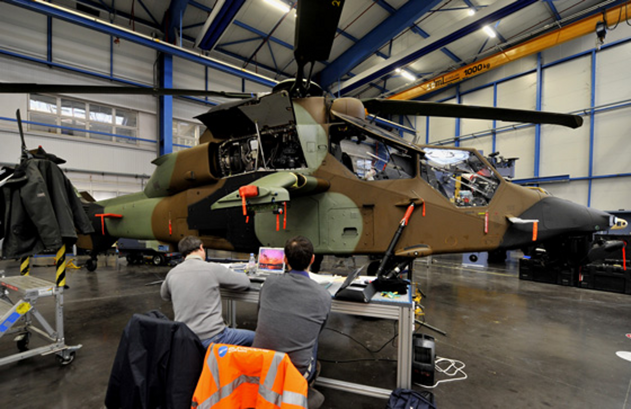 The Tiger has the distinction of being the first all-composite helicopter developed in Europe
