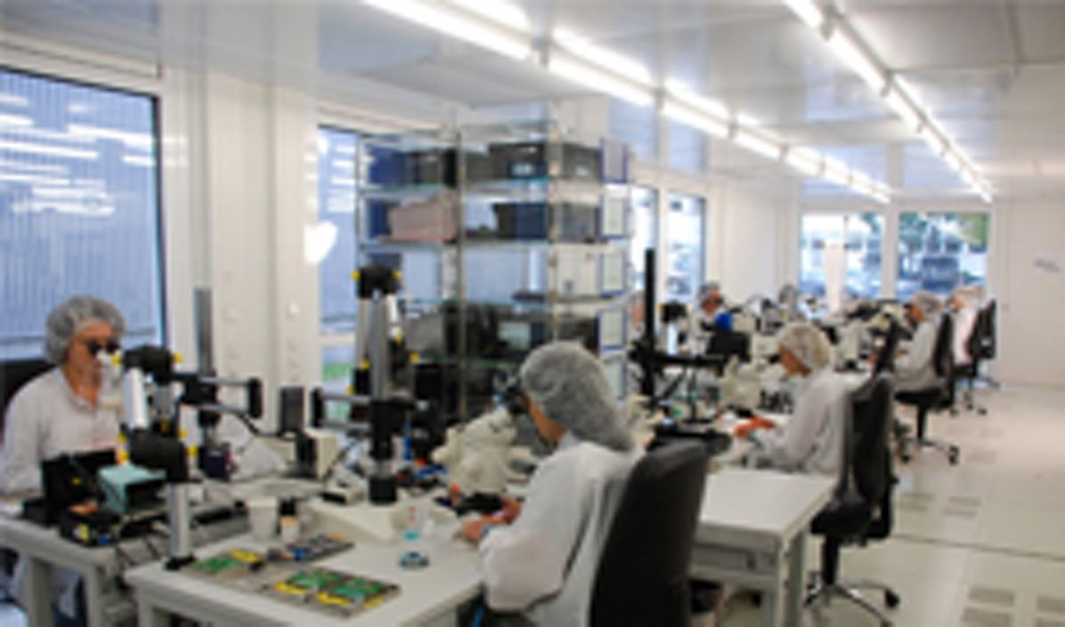 """""""Microwave Factory"""" at Airbus Ulm, to produce next generation radar modules under clean-room conditions"""