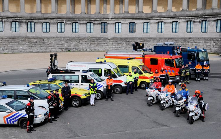 Belgian emergency and security services using  Airbus's Tetra technology