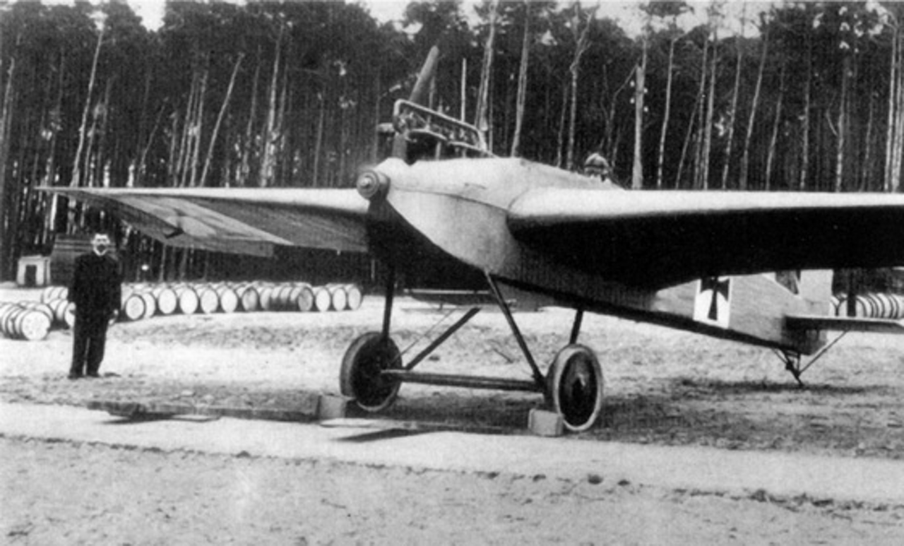 The J1, the world's first all-metal aircraft designed by engineer Hugo Junkers