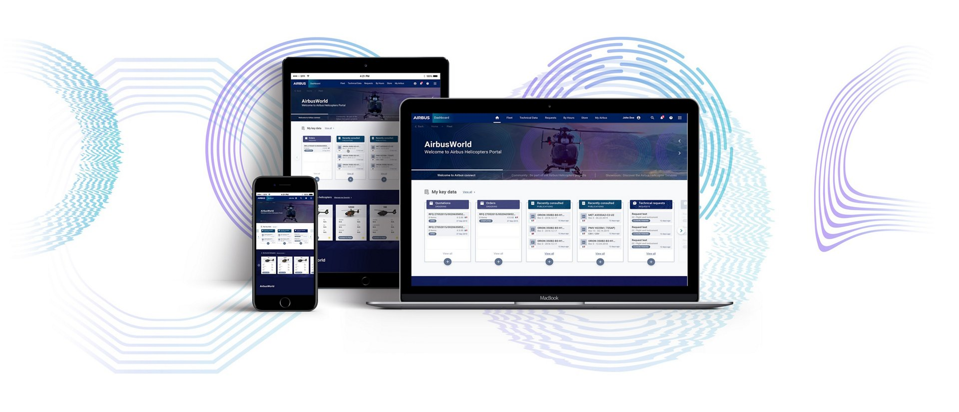 AirbusWorld offers a simplified and streamlined navigation between services, through a number of menus and shortcuts that are accessible from any page. The platform enables greater collaboration with operators through new features, such as an interactive map of Airbus Helicopters' global network of service and training centres, an online catalogue of services and software, and online communities that foster open dialogue.