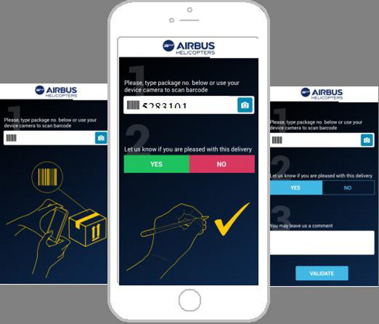 Airbus uses QR codes to collect customer feedback on helicopter spare part deliveries