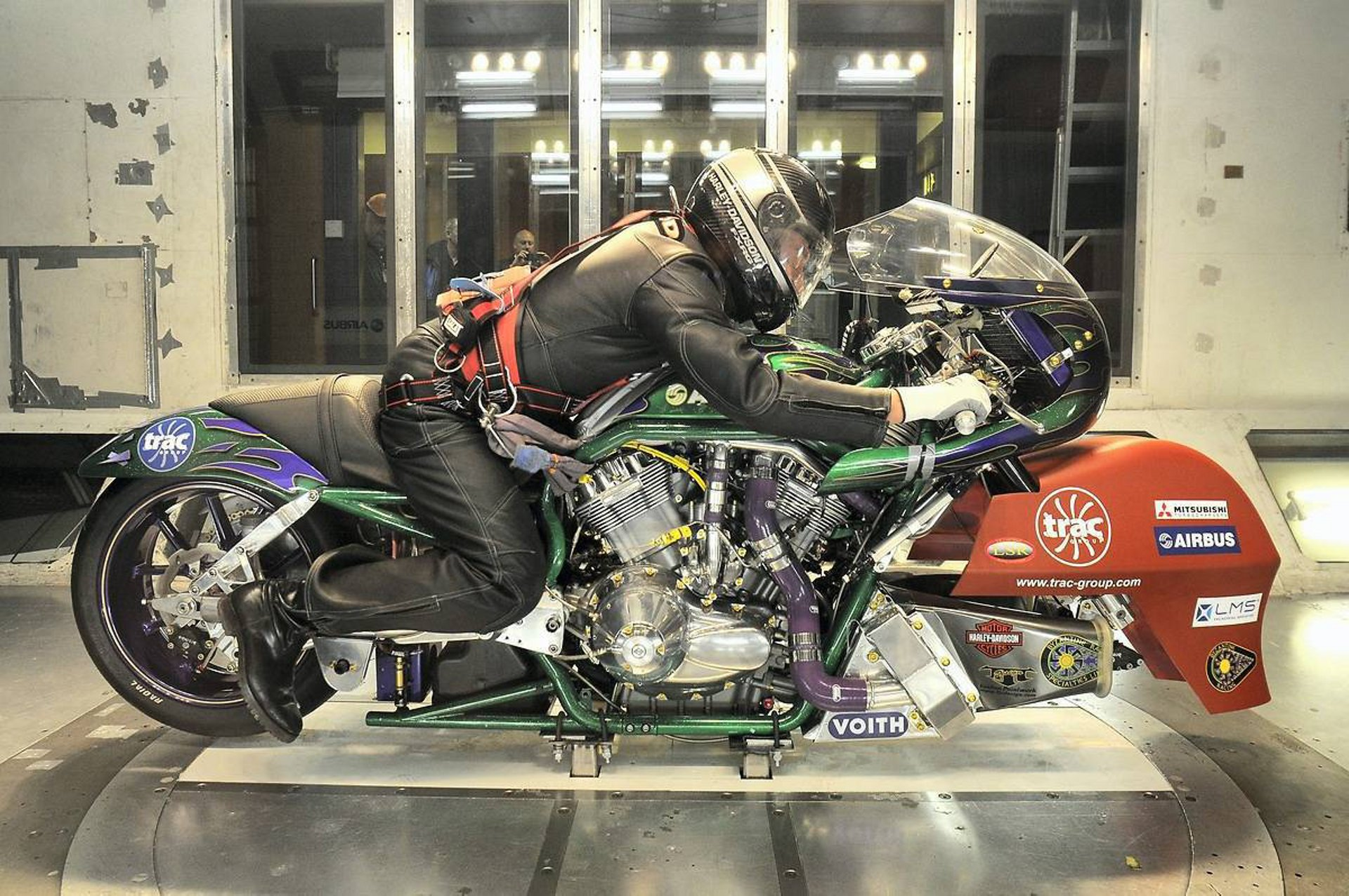 The Airbus Engineering Design & Services initiative offers the company's knowledge and skills to other industry sectors – including automotive – that can benefit from its unrivalled expertise, as illustrated by this wind tunnel evaluation of a motorcycle
