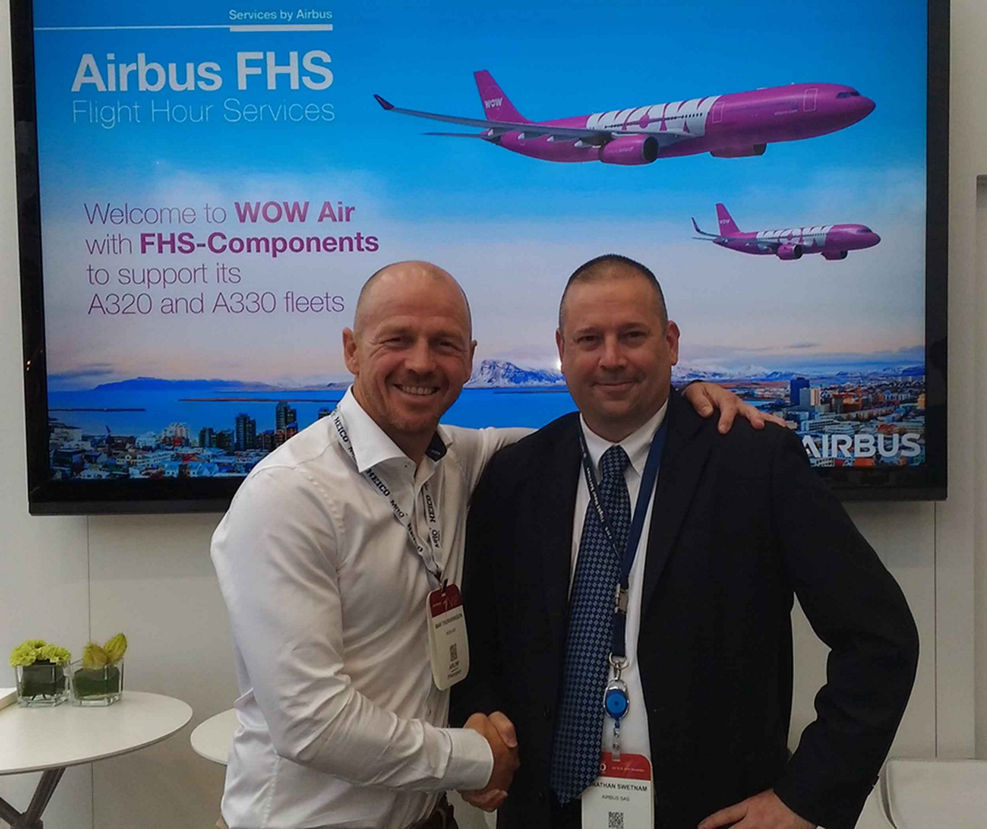 WOW Air selects Airbus FHS component support – powered by Skywise – for its A320 and A330 fleets at MRO Europe
