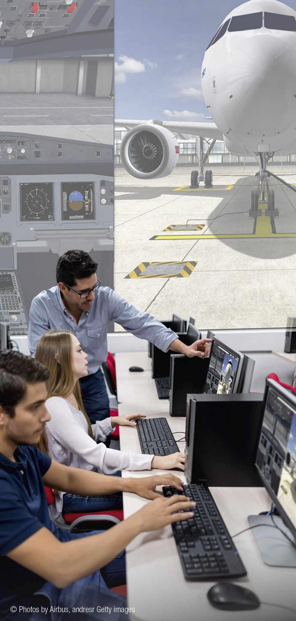 Familiarising students with the latest Airbus aircraft technology and maintenance procedures