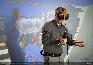 Implementing virtual reality in Airbus maintenance activities