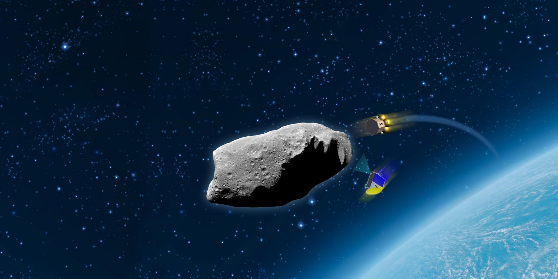 Airbus is investigating a mission to deflect an asteroid with a kinetic  impactor.  Photo Airbus