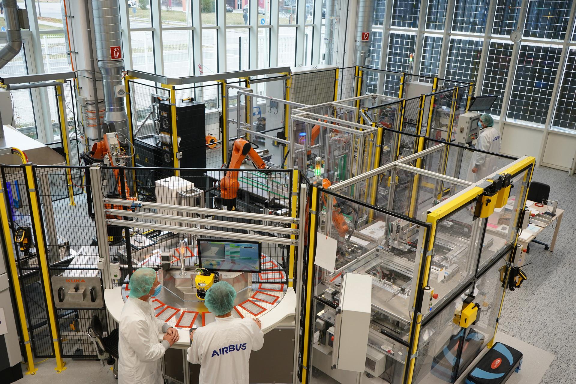 Airbus fully automates solar array production